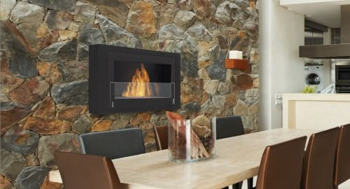 Eco-Feu WU-00170-BB Montreal Decorative Wall-Mounted Fireplace