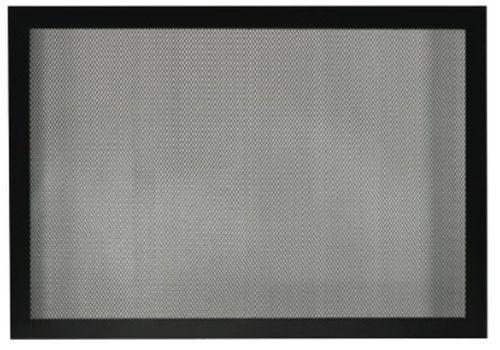 """Fireplace Tall 42"""" Barrier Screen - Matte Black"""