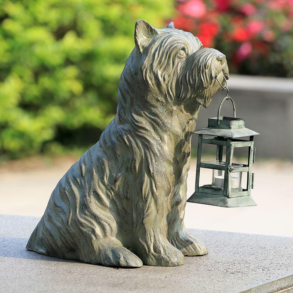 SPI Home Aluminum Iron Glass Patient Pooch Garden Lantern