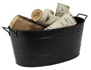 Black Oval Steel Tub By Minuteman