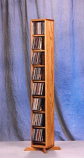 Solid Oak Dowel Cabinet for CD's Model 806