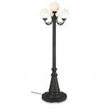 370- European Park Style Four White Globe Lantern Patio Lamp
