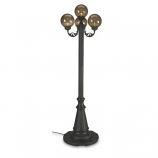 European Park Style Four Bronze Globe Lantern Patio Lamp