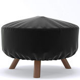 Dura Covers LRFP5528 32in Heavy Duty Round Fire Pit Cover in Black