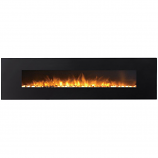 Regal Flame LW5095PF Huron 95in Black Electric Wall Mounted Fireplace - Pebble
