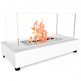 Regal Flame ET7010WHT Avon Tabletop Portable Bio Ethanol Fireplace in White