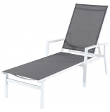Almo HARPCHS-W-GRY Harper Sling Chaise - White-Gray