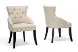 Baxton Studio Halifax Beige Linen Dining Chair-Set of 2