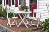 White Quik-Fold Cafe Tables By Adams Mfg