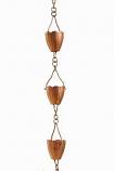 Copper Flower Cup Rain Chain -4.25