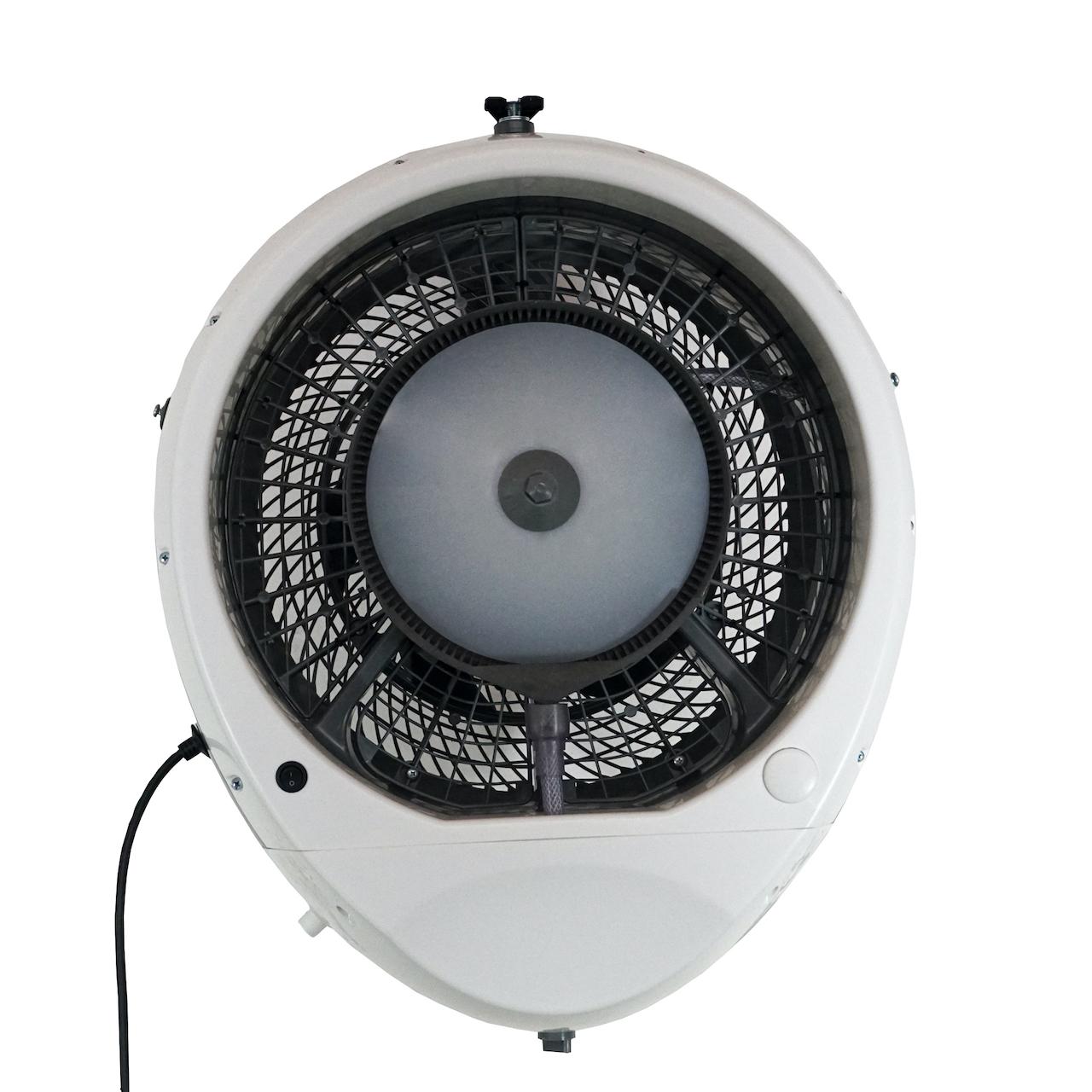 EcoJet Hurricane Wall Mount Misting Fan in White