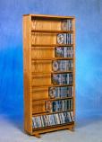 Solid Oak Dowel Cabinet for CD's Model 806-24