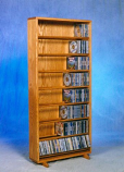Solid Oak Dowel Cabinet for CD's Model 806-24