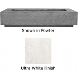 Prism Hardscapes Tavola 6 Fire Table in Ultra White - LP