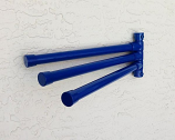 Wall Mount Towel Rack with 3 Bars, Blue
