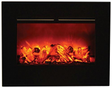"""26"""" ZECL Electric Fireplace with 29"""" x 23"""" Black Surround"""