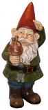 Garden Gnome Holding Mushroom Garden Statue