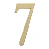 """4.75"""" Number 7 Satin Brass By Whitehall Products"""