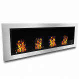 Regal Flame ER8003 Charlotte 64in Ventless Bio Ethanol Wall Mounted Fireplace