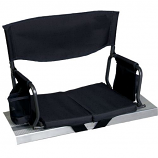 Shelter Logic 10110-1 Bleacher Boss Compact Stadium Arm Chair - Black