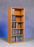 Solid Oak desktop or shelf CD Cabinet Model 503-1