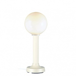 """Moonlite 35"""" Table Lamp with 3"""" White Tube Body and White Globe"""