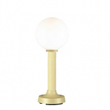 """Moonlite 35"""" Table Lamp with 3"""" bisque Tube Body and White Globe"""