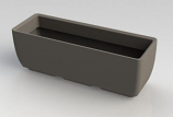 "RTS Elevated Planter w/ Stand in Graphite - 30"" X 10"""