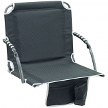 Shelter Logic 10121-410-1 Bleacher Boss Stadium Chair w/Arms - Black