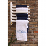 Float Storage FSTOW6-WH Original Hanging Towel Rack 6 Towel Model - White