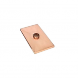 "Gelco 1 Center Hole Copper Chimney Chase Cover With Drip Edge - 50"" x 80"""