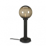 """Moonlite 35"""" Table Lamp with 3"""" Black Tube Body and Bronze Globe"""