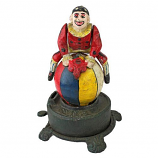 Spinning Acrobat Clown Bank By Design Toscano