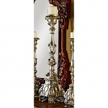 European Scroll Footed Candlesticks - Large