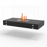 Regal Flame EF6003BK Ionic Ventless Free Standing Ethanol Fireplace in Black