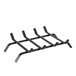 Regal Flame LRFP1015 18in Wrought Iron Fireplace Log Grate in Black