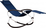 Vivere ORBL1-NW Orbital Lounger - Single- Navy on Matte White