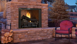 "42"" OD Vent-Free Firebox with Warm Red Split Herringbone Liner"