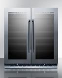 Summit SWC3066B Built-In Undercounter Dual Zone Wine Cellar