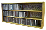 Solid Oak desktop or shelf CD Cabinet- Honey Oak Model 303-3