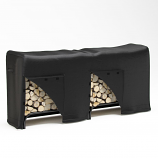 Dura Covers LRFP5527 8-Foot Heavy Duty Firewood Log Rack Cover in Black