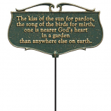 American Crafted  The Kiss of the Sun...  - Garden Poem Sign