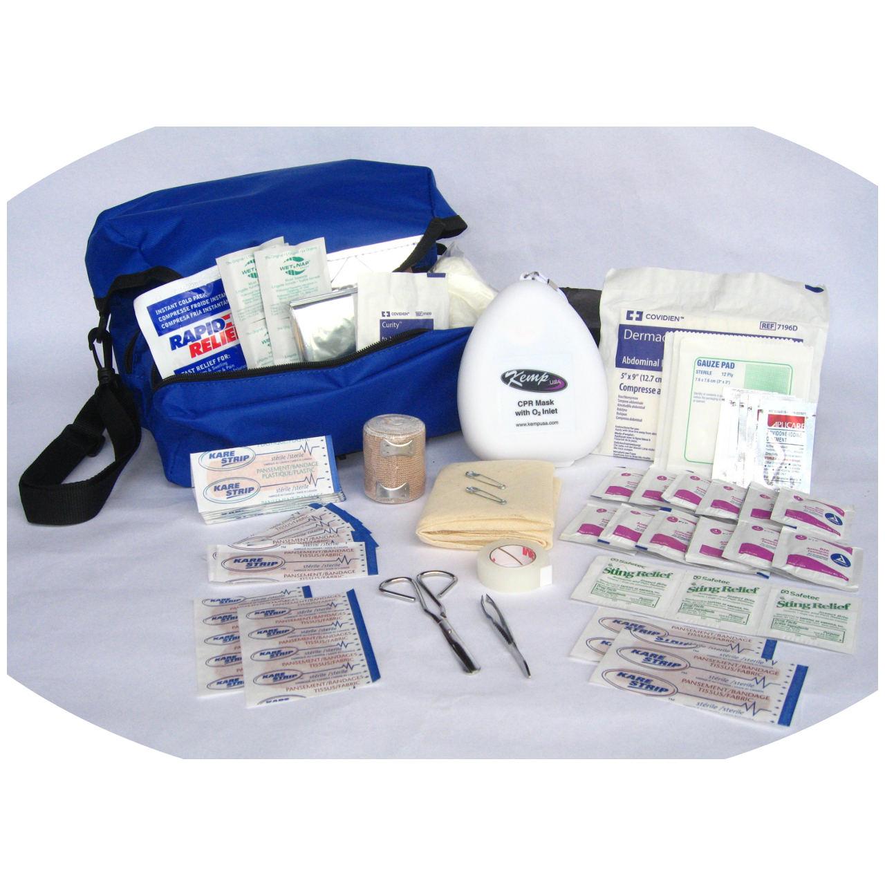 Kemp USA Royal Blue Guard Station Stuffed Medical Field Kit
