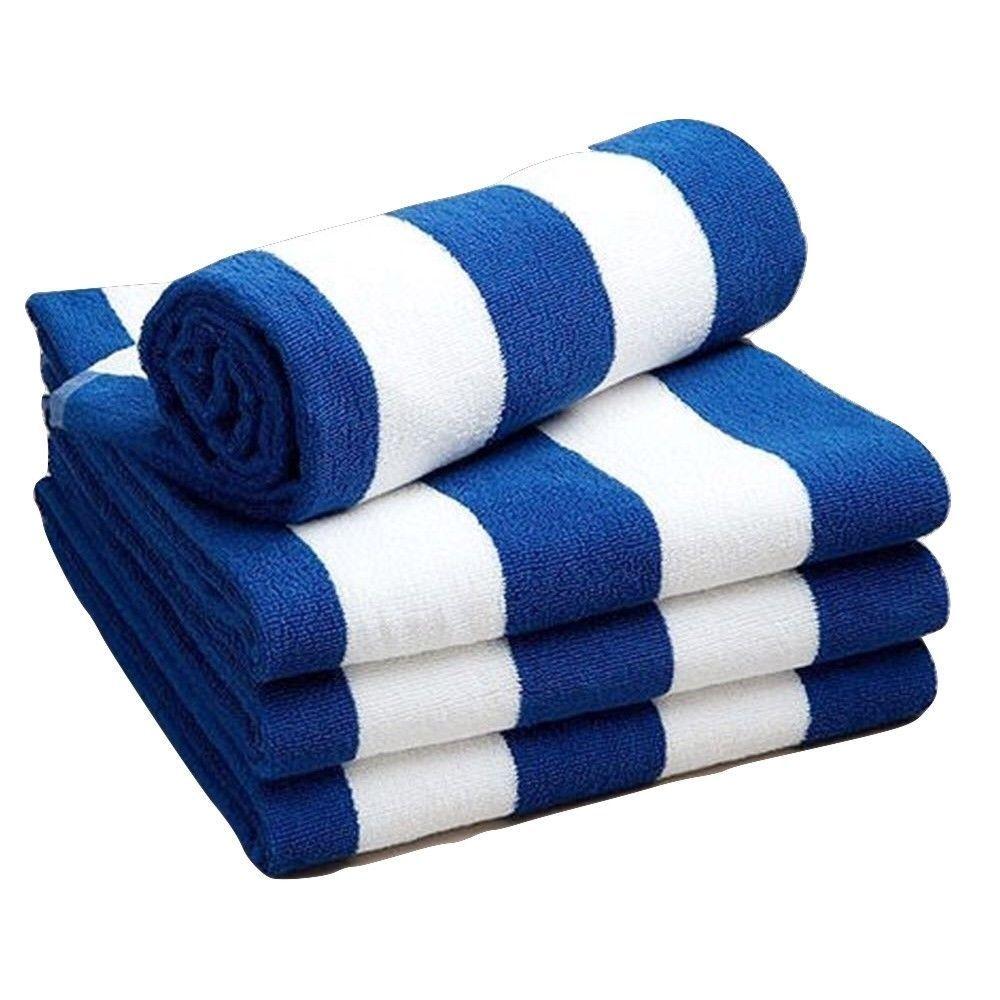 "Kemp USA 27.5"" x 59"" Blue And White Beach Towel"