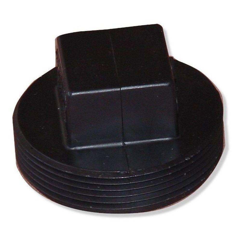 """Afras 10060 2"""" UPC Plastic Winterizing Or Test Plug - Black"""
