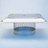 "HomeSaver Pro 10"" Stainless Steel Round Chimney Cap 3/4"" Mesh"
