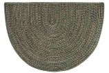 Braided Multicolor Hearth Rug - Green