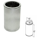 "Galvanized Chimney Pipe - 10"" x 12"""