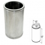 "Stainless Steel Chimney Pipe - 10"" x 12"""
