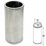 "Stainless Steel Chimney Pipe - 10"" x 18"""
